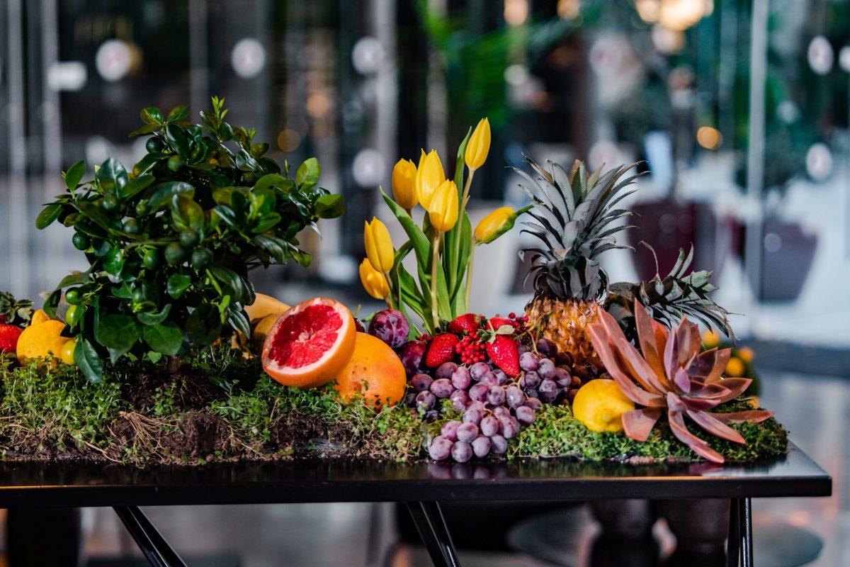 תצוגת פירות חתונת שישי צהריים